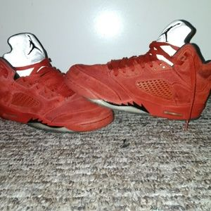 c3e5768f6acd92 Jordan Shoes - Jordan retro Red suede 5s used sz7m unisex